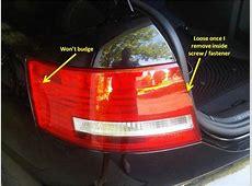 Removing Tail Light Assembly 2007 A6 AudiWorld Forums