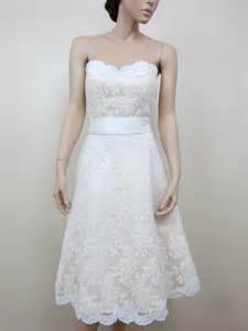 ivory lace bridesmaid dresses ivory strapless lace wedding dress alencon lace with sash
