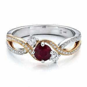 24 marvelous diamond ruby wedding rings navokalcom With wedding rings with rubies and diamonds