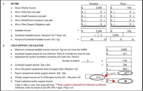 child support guidelines worksheet resultinfos