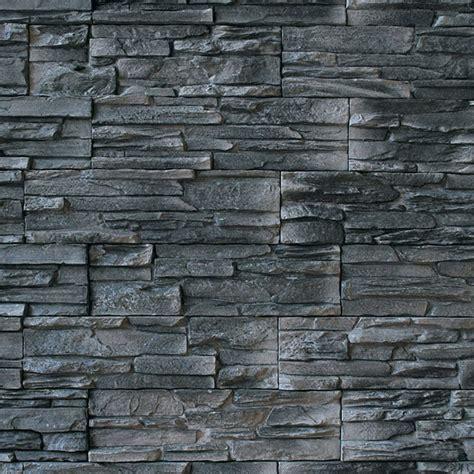 Wandverkleidung Außen Stein by Wandverkleidung Sootblack 11 2 X 39 Cm Anthrazit