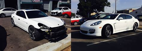 porsche before and after 2011 porsche panamera 4 ariana auto body