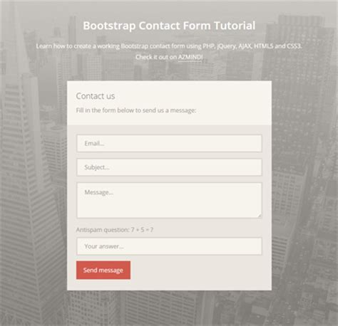 how to create a bootstrap contact form with php jquery