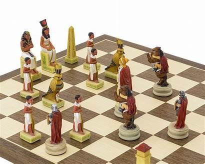 Chess Themed Romans Egyptians Italfama Painted Hand
