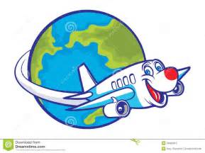 globe with airplane clipart clipartsgram