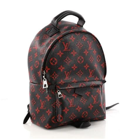 louis vuitton palm springs backpack limited edition monogram infrarouge pm  stdibs