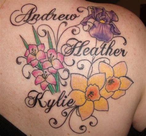 ideas  birth flower tattoos  pinterest