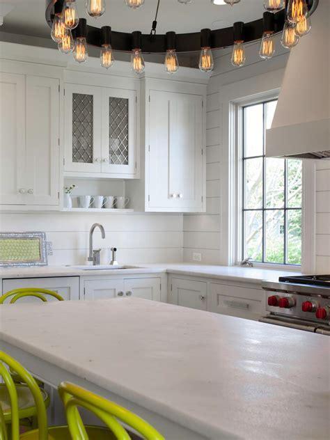 Brilliant White Kitchen With Shiplap Walls   HGTV