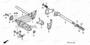 Honda Motorcycle 2004 Oem Parts Diagram For Gearshift Drum