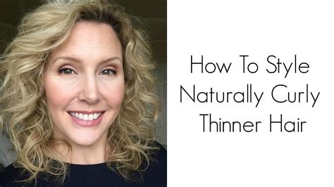 How To Style Natural Curly Thin Hair Tutorial