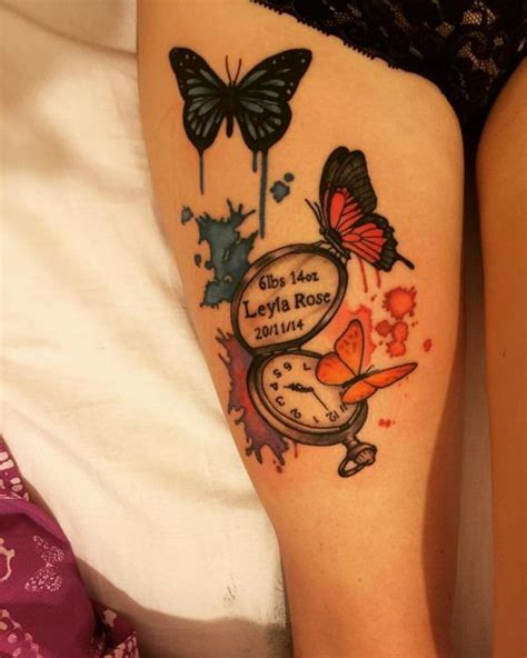 butterfly thigh tattoos designs ideas  meaning