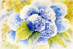 Blumen Bilder Gemalt : bild stillleben blau blumen hortensien von ildiko passarge bei kunstnet ~ Orissabook.com Haus und Dekorationen
