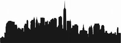 Clipart Skyline Border Silhouette Transparent York Building