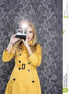 Fashion Photographer Retro Camera Reporter Woman Royalty