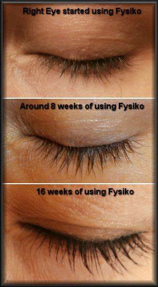 grow longer  fuller eyelashes fysiko eyelash growth