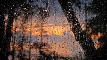 Rain Window Drops Wallpapers Rainy Anime Raining