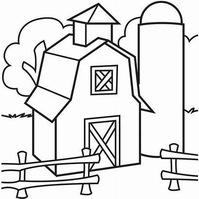 Coloring Farmyard Fence Barnyard Popular