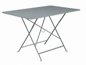 Table Bistrot Pliante : table pliante bistro 117x77 gris orage jardiland ~ Teatrodelosmanantiales.com Idées de Décoration