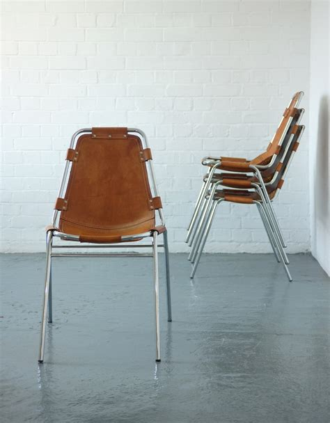 chaise perriand les arcs set of four perriand les arcs chairs modern room 20th century design