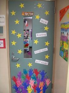 Door, Decoration, U0026quot, We, U0026, 39, Re, Reaching, For, The, Stars, In, 5th, Grade, U0026quot, Students, Traced, T, U2026