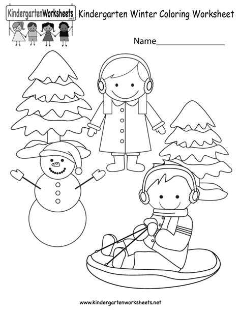 coloring pages winter coloring worksheet