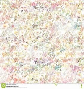 Vintage Floral Botanical Spring Background In Soft Pastel ...