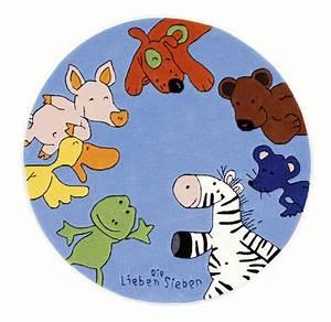 Teppich Die Lieben Sieben : die lieben sieben kinder teppich rund blau ko tex zertifiziert tiere b r zoo bauernhof hund ~ Whattoseeinmadrid.com Haus und Dekorationen