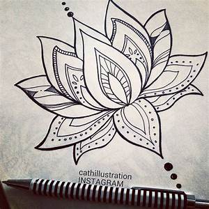 Drawn lotus pinterest - Pencil and in color drawn lotus ...