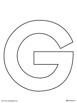 uppercase letter  template printable prek letter