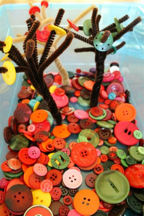 quiet time activity  preschoolers fall button trees