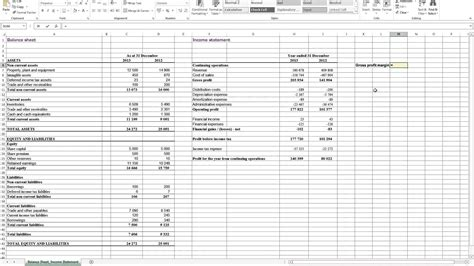 profit loss  balance sheet projected profit  loss