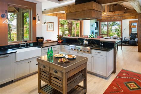 rustic wood kitchen island 15 rustic kitchen islands for any kitchen 5029