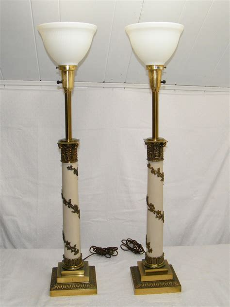 vintage torchiere table ls pair of vintage 1950 s antique stiffel torchiere brass