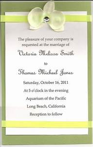 Diy wedding invitations simple wedding invitations using for Simple wedding invitations with pictures