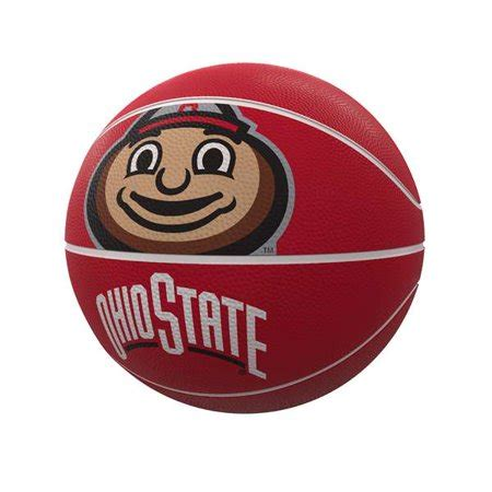 ohio state buckeyes mascot official size rubber basketball