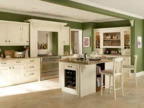 Kitchen Wall Colors with Green Cabinets