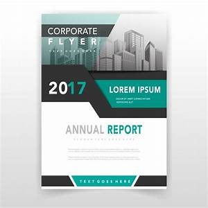 Green Cover Annual Report Template Vector