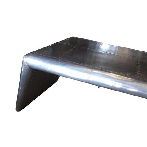 european design aviator wing desk in aluminium and