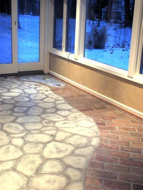 24 best faux brick floors images on Pinterest   Brick