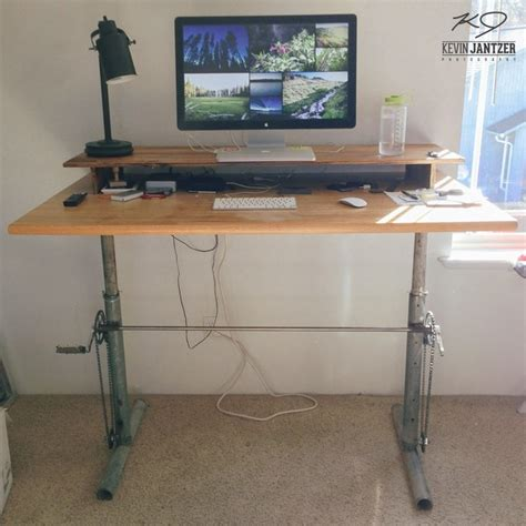 diy height adjustable desk work better 5 diy standing desk projects you can make
