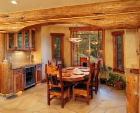 Log Cabin Kitchen Island Ideas by Beautiful Log Cabin Dining Rooms