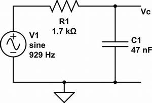 ac phase shift of voltage across capacitor in series rc With simple rc circuit