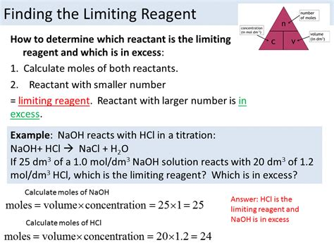 Limiting Reagent Edexcel 91 Separate Science Higher By Chemistryteacher001  Teaching Resources