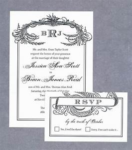 free wedding invitation printable download black scroll With scroll wedding invitations with rsvp cards