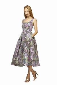 kubrides perfect bridesmaid dress floral printed tea With floral tea length wedding dress