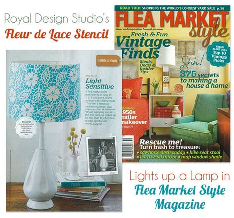 diy flea market projects light up a lshade with a diy stencil project from flea market style studios stenciling and