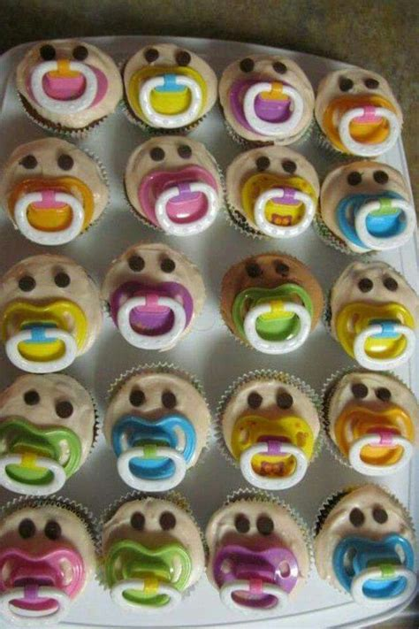 baby shower cupcakes with pacifiers idea for a baby shower cupcakes with pacifier