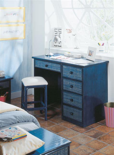 bureau bleu bureau bleu en rotin brin d 39 ouest