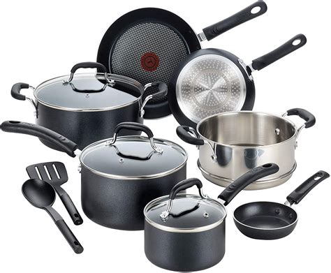 fal csc professional nonstick cookware dishwasher safe pots  pans set induction base
