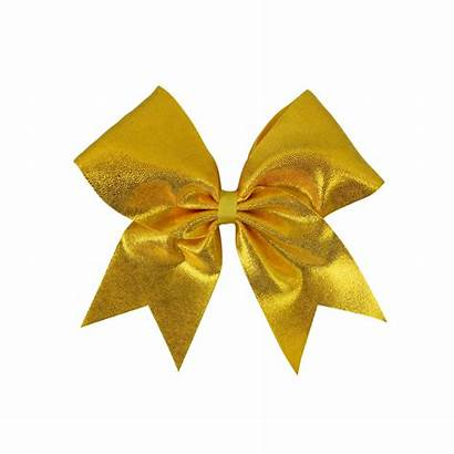Gold Bow Cheer Yellow Hair